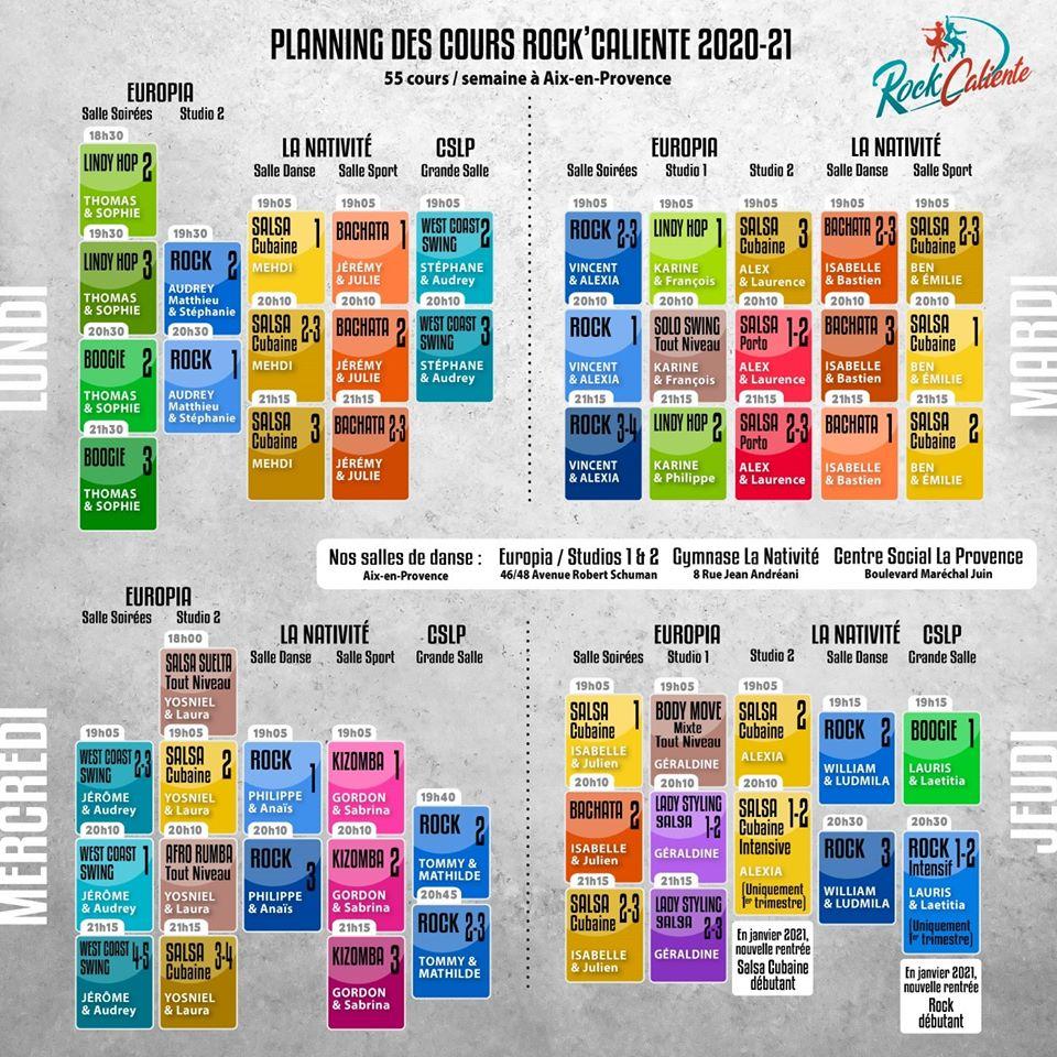 Planning cours 2019-2020 RockCaliente